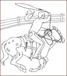 plansa de colorat animale cai de colorat p23