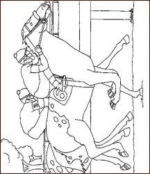plansa de colorat animale cai de colorat p24
