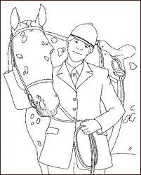plansa de colorat animale cai de colorat p26