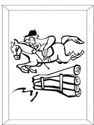 plansa de colorat animale cai de colorat p28