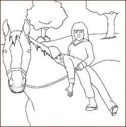 plansa de colorat animale cai de colorat p35