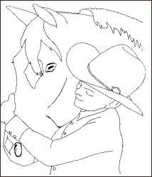 plansa de colorat animale cai de colorat p36
