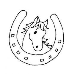 plansa de colorat animale cai de colorat p49
