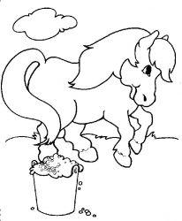 plansa de colorat animale cai de colorat p55