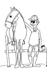 plansa de colorat animale cai de colorat p64