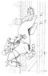 plansa de colorat animale cai de colorat p69