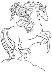 plansa de colorat animale cai de colorat p72