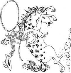 plansa de colorat animale cai de colorat p73