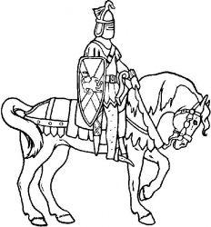 plansa de colorat animale cai de colorat p77