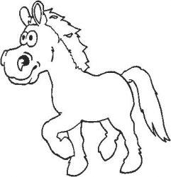 plansa de colorat animale cai de colorat p78