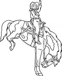 plansa de colorat animale cai de colorat p86