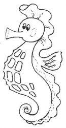 plansa de colorat animale caluti de mare de colorat p04