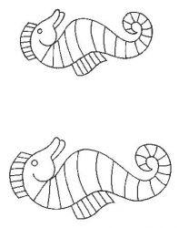 plansa de colorat animale caluti de mare de colorat p05