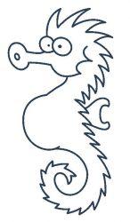 plansa de colorat animale caluti de mare de colorat p06
