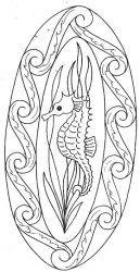 plansa de colorat animale caluti de mare de colorat p30