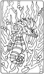 plansa de colorat animale caluti de mare de colorat p32