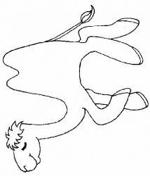 plansa de colorat animale camile de colorat p01