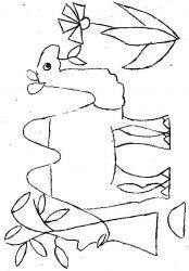 plansa de colorat animale camile de colorat p10