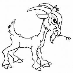 plansa de colorat animale capre de colorat p08