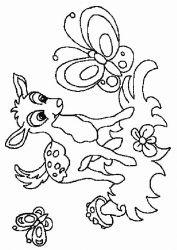 plansa de colorat animale caprioare de colorat p05