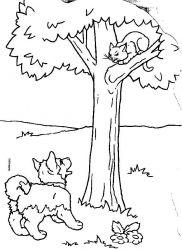 plansa de colorat animale catelusi de colorat p08