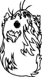 plansa de colorat animale cobai de colorat p03