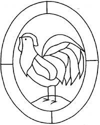 plansa de colorat animale cocosi de colorat p11