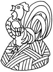 plansa de colorat animale cocosi de colorat p12
