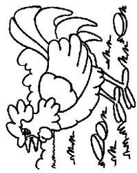 plansa de colorat animale cocosi de colorat p26