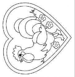 plansa de colorat animale cocosi de colorat p27