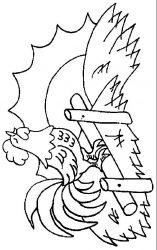 plansa de colorat animale cocosi de colorat p28