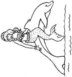 plansa de colorat animale delfini de colorat p01