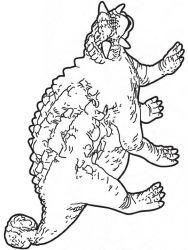 plansa de colorat animale dinozauri de colorat p02