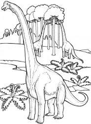 plansa de colorat animale dinozauri de colorat p05