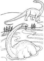 plansa de colorat animale dinozauri de colorat p08
