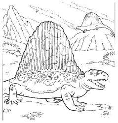 plansa de colorat animale dinozauri de colorat p14