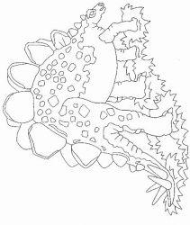 plansa de colorat animale dinozauri de colorat p17