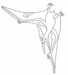 plansa de colorat animale dinozauri de colorat p18