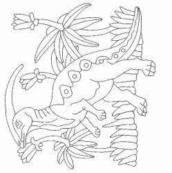 plansa de colorat animale dinozauri de colorat p21