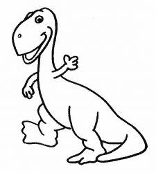 plansa de colorat animale dinozauri de colorat p27
