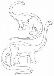 plansa de colorat animale dinozauri de colorat p47