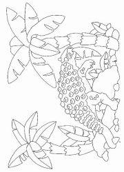 plansa de colorat animale dinozauri de colorat p48