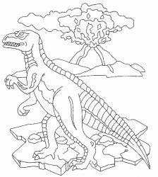 plansa de colorat animale dinozauri de colorat p49