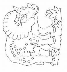 plansa de colorat animale dinozauri de colorat p50