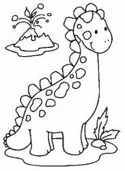 plansa de colorat animale dinozauri de colorat p51