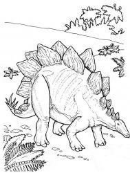 plansa de colorat animale dinozauri de colorat p58