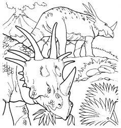 plansa de colorat animale dinozauri de colorat p59