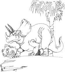 plansa de colorat animale dinozauri de colorat p60