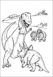plansa de colorat animale dinozauri de colorat p63