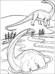plansa de colorat animale dinozauri de colorat p64